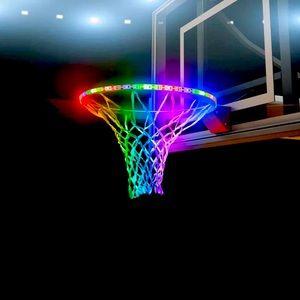 Led lights for basketball net